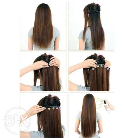 Extensions !real human hair !with clips