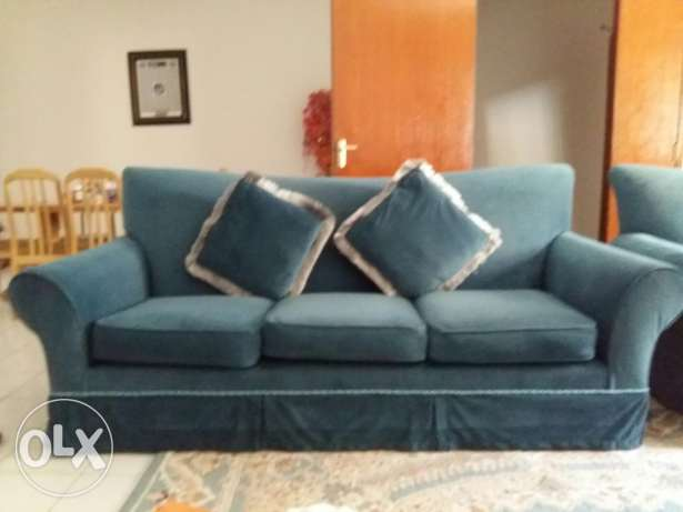 Three seater sofa two pices