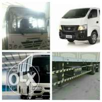 Buses and pick up for rent