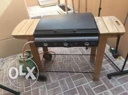 BBQ grill with gas cylinder