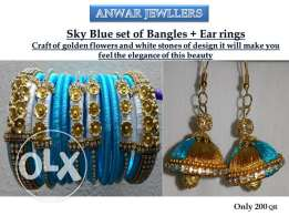 Hand made Bangles and Ear rings