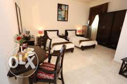 4 Rent Luxury 1 bhk FF Hotel Apartment Dar Al khutub :Qr.6000