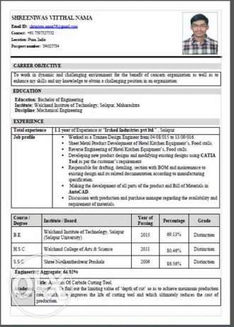 Looking for the mechanical engineering job