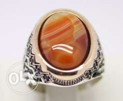 Agate Men Ring