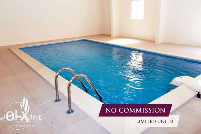 No Commission, FF 2BR Apt in Bin Omran with Access to Pool and Gym