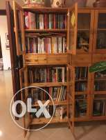 Book Cases PINE - with Front Glass Doors