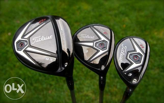 Titleist 915 Driver 9.5 degrees stiff, 915 3 Wood, 915 3 hybrid