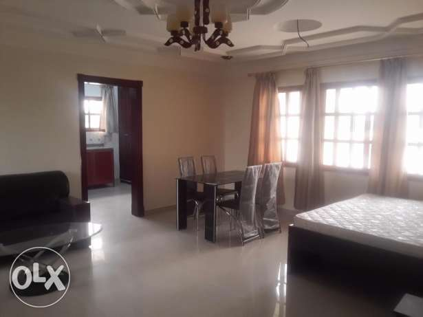 fully furnished studio with covered parking