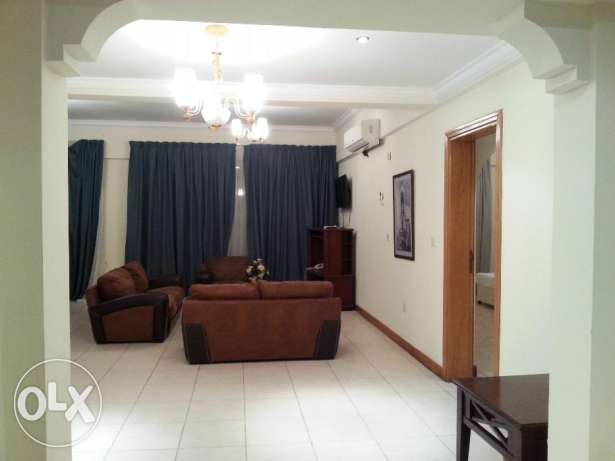 fully furnished 2bhk flat at cornice for 7500 qrs