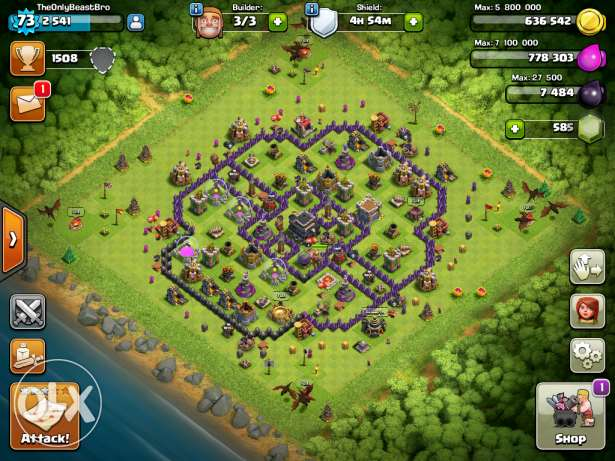 Clash of clans town hall 9 الريان -  1