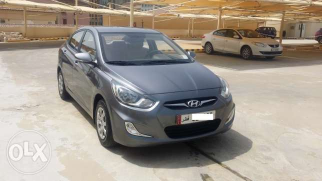 An excellent condition Hyundai Accent - 2013 model Car