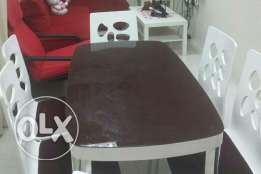 dining table for sale with six chairs , all in good condition