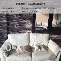 leather sofa (like new)