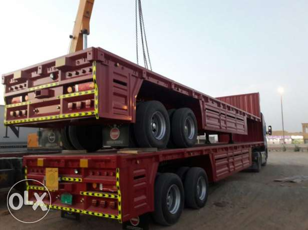 brand new heavy duty bogie trailer with 65 ton loading capacity