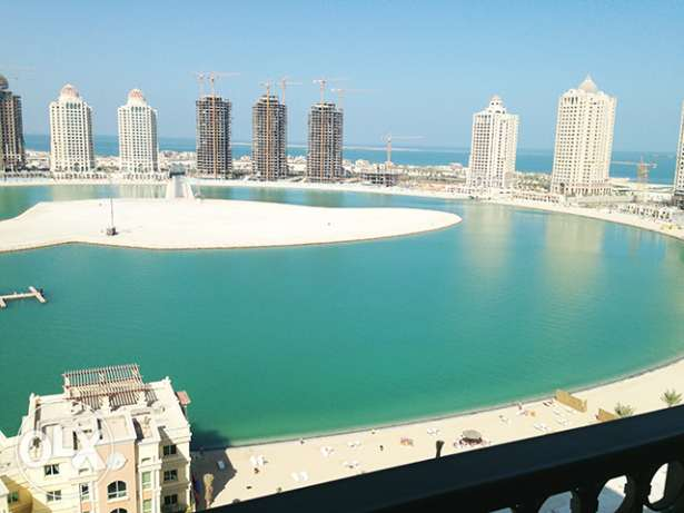 Semi-furnished 3-Bedroom Apartment in Viva Bahriya الؤلؤة -قطر -  1