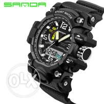 Japanese Men Watch Clock Dual Display Shock Digital LED Waterproof