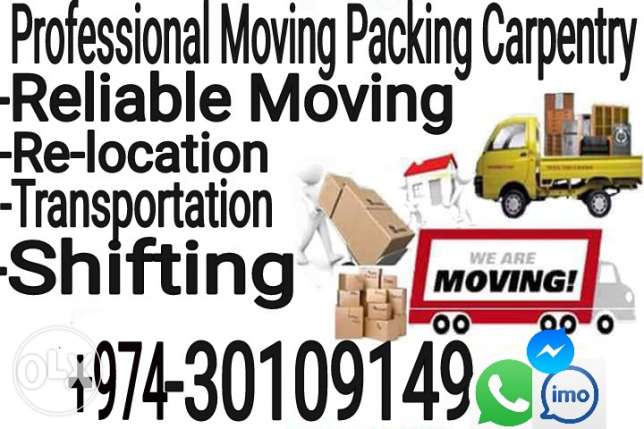 Moving Shifting Packing Carpenter transport villa office and Apartment