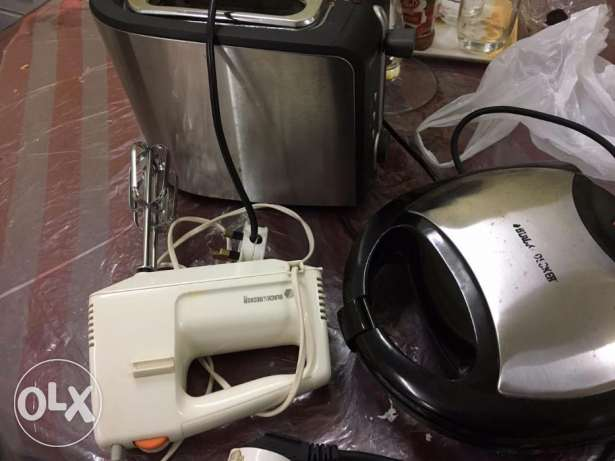 Philips toaster ' b& d mixer and sandwiche maker