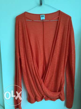 Orange Pullover / Sweater / Top