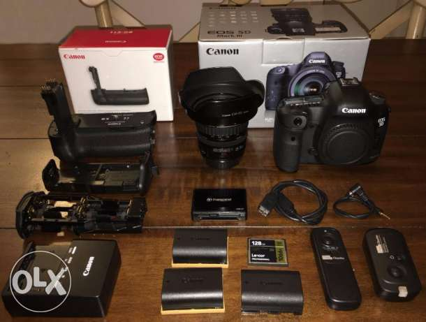 Canon EOS 5D Mark III DSLR - Black With Canon 24-70 L Lens And 600 Spe