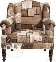 Charming Kare Brown Patch Armchair