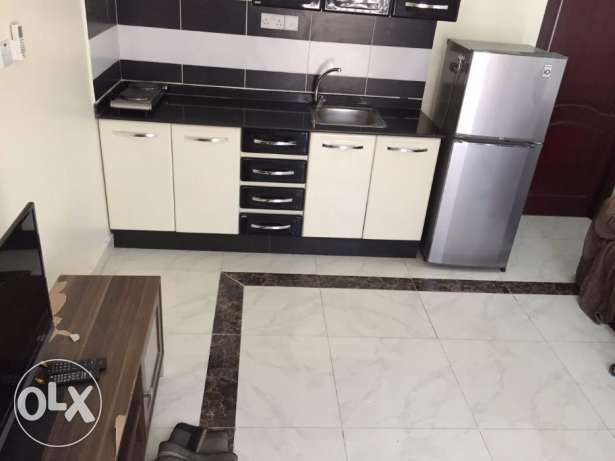 -: 4500 01BHK FF apartment in Ain Khalid,W&E included