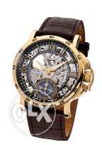 Theorema 'Casablanca' Made in Germany Mechanical Gold Black Leather St