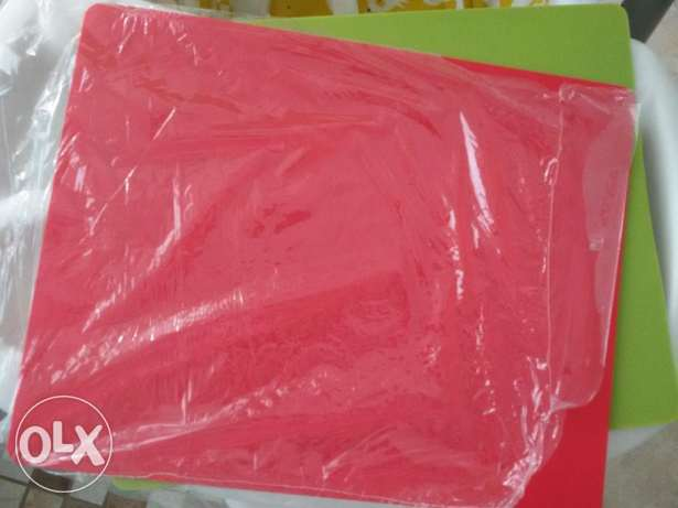 2 Bendable shopping board color green+red for meat and veg.