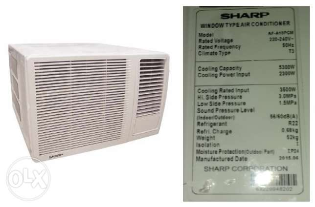 SHARP Window A/C for 750QR