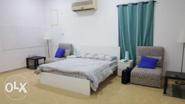 Fully furnished 1bhk in villa al markhiya