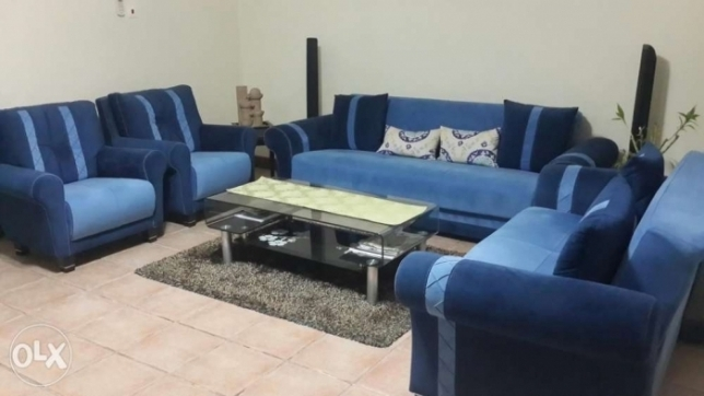 Sofa for sale - 3+2+1+1 + Glass Table