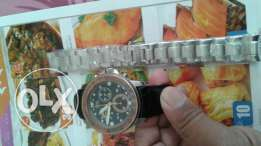 Mens watch with new steel bracelet