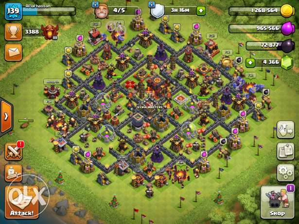 Best Price!!!Clash of Clans Maxed townhall 10!!
