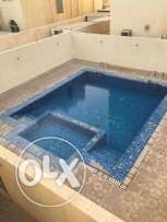 Unfurnished 3-BR Villa in Ain Khaled/ Gym/ pool