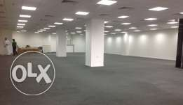 180,220,250 Sqm Brand new open office space for rent at Doha