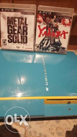 Sony PlayStation 3 blue colour