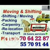Moving shifting carpenter pick up transporting services