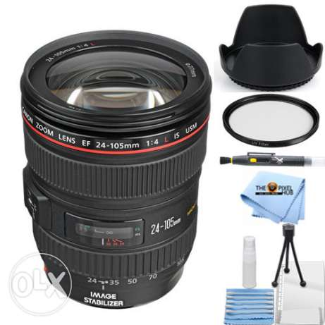 Canon 24-105mm f/4L IS EF USM AF Lens!! STARTER BUNDLE brand new