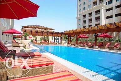 Fully-Furnished 3-BHK Flat in [The Pearl] الؤلؤة -قطر -  4