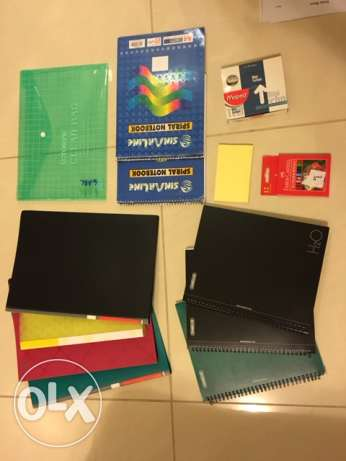 Big New Stationary Set: Notebooks, folders, etc