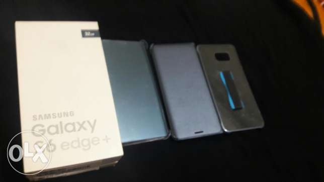 Samsung Galaxy S6 Edge plus blue color with 3 original cover