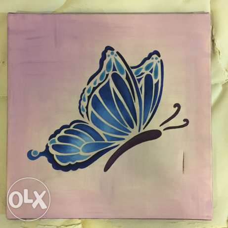 Artisanal Butterfly Painting