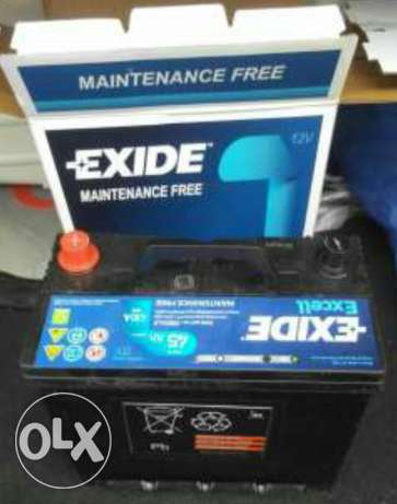 Unused Exide battery under warranty