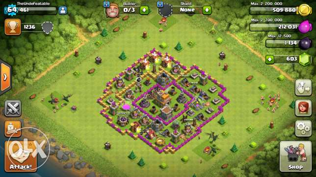 Clash Of Clans Account Lvl 64