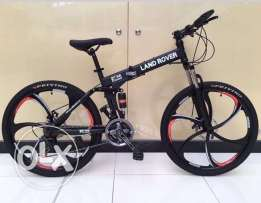 Folding bike with alloy wheel