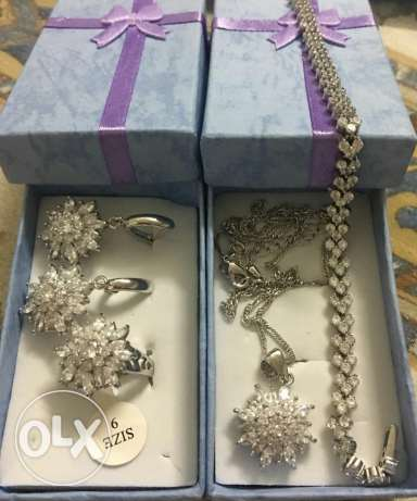 Silver jewelry set for sale