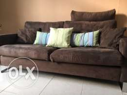 comfortable sofa set: 3seater, double seater + single
