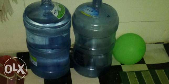 Two Al manhal water bottles
