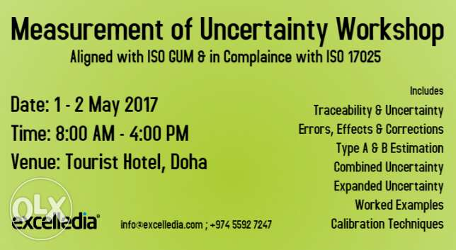 Workshop in Measurement of Uncertainty for Calibration