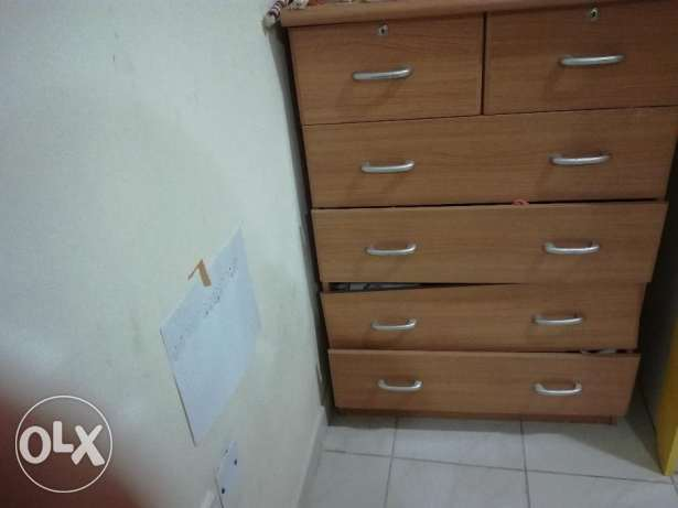 Urgent Sale- Sofa Cum bed, Multi drawer cabinet, bar chairs & baby bed فريج بن محمود -  3